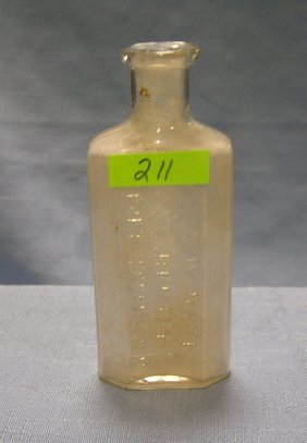 Antique Medicine Bottle From Port Jefferson Ny