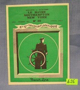 French Line Transatlantic Travel Booklet