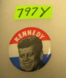Pictorial Kennedy Campaign Button