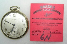 Antique Hamilton 14k Gold Filled Pocket Watch