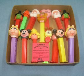Box Full Of Vintage Pez Candy Containers