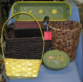 Decorative Baskets And Wood Accessories