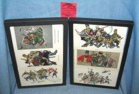 Rare Set Of 6 Arthur Szyk Post Cards