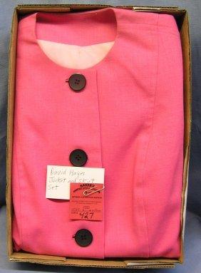 Vintage David Hayes Jacket And Skirt Set