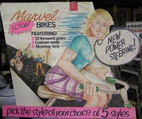 Marvel Bicycles Advertising Store Display