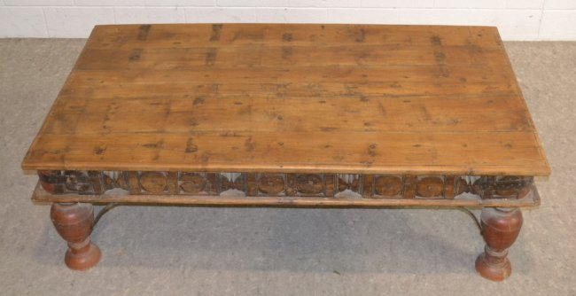 Rustic Southwestern Hacienda Wood Coffee Table Lot 159