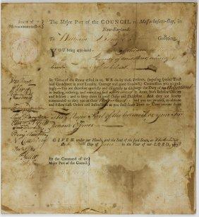 Massachusetts Militia Appointment, 1778
