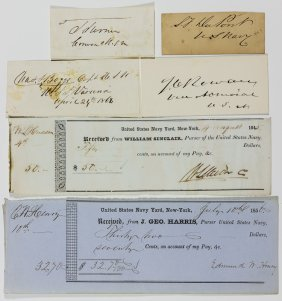 Union Navy Autograph Grouping