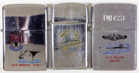 (zippo Lighters) Navy Warships (3)