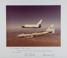 Shuttle Enterprise First Crew Signed Photo