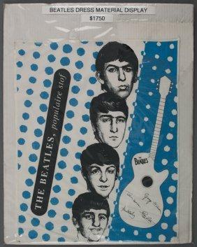 The Beatles Dress Material Sample Display, 1964