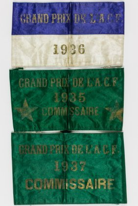 1935, 1936 And 1937 French Grand Prix Commissioner's