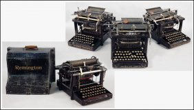 FOUR REMINGTON TYPEWRITERS.