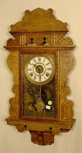 Sessions Oak Hanging Kitchen Clock With Alarm NR