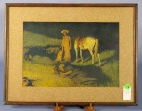 """Frederick Remington """"�Night Herd"""" Framed Print"""