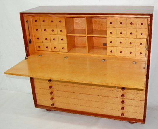 88 Modern Design Combination Desk Map Cabinet Lot 88