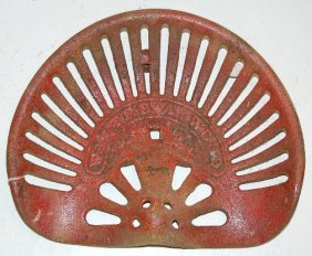 Cast Iron Walter A. Wood Implement Seat