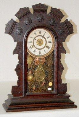 Dark Oak 8 Day T & S Alarm Kitchen Clock