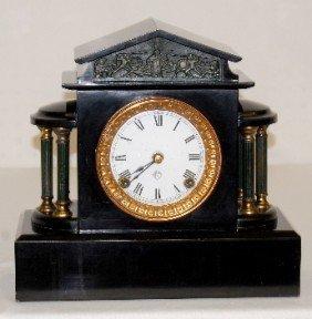 """Ansonia """"Ormonde"""" Enameled Iron Case Clock"""