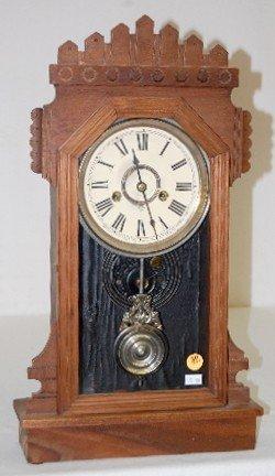 """Ansonia Black Walnut """"Werra"""" Kitchen Clock"""