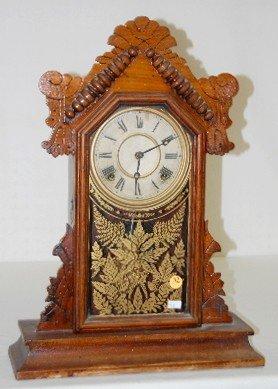 """Ingraham Walnut """"Topaz"""" 8 Day Kitchen Clock"""