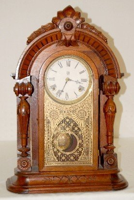 Waterbury Walnut T & S Parlor Clock