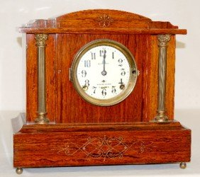 Seth Thomas Sonora Red Adamantine Mantel Clock