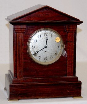 Seth Thomas 4 Bell Red Adamantine Mantel Clock