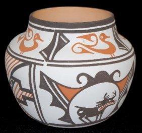 Contemporary Zuni Pottery Vessel