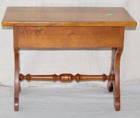 Pierce Carved Antique Walnut Stool
