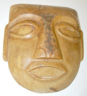 Carved Stone Mask With Elongated Ears