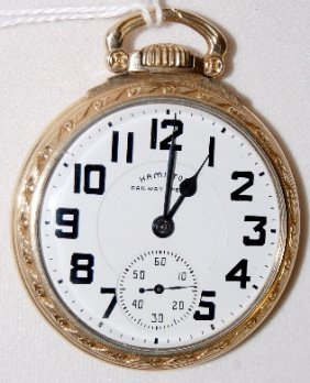 Hamilton 992B, 21J, 16S, GF, OF Pocket Watch