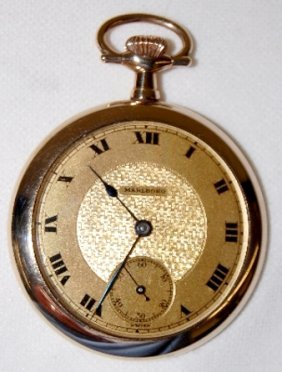 Marlboro 7J, 14S, OF, Swiss Made Pocket Watch