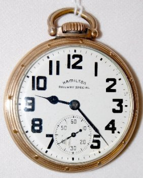 Hamilton 992B, 21J, 16S, GJS, OF Pocket Watch