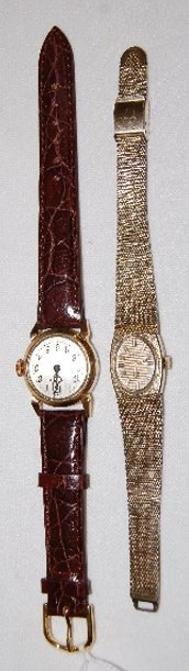 2 Ladies Wrist Watches, Bulova & Illinois