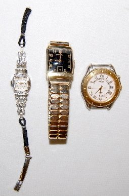 3 Wrist Watches, Hamilton, Zelcon & Seiko