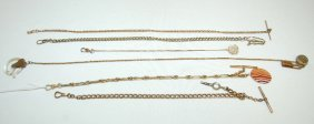 6 Watch Chains, Assorted Styles And Lengths