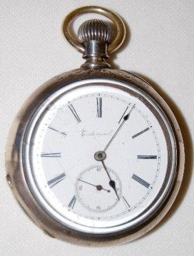 Centennial 18S, OF Coin Silver Pocket Watch