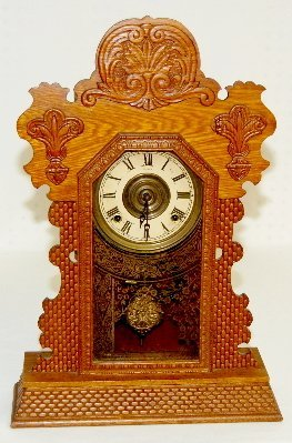 "Ingraham ""Topaz"" Oak Kitchen Clock"