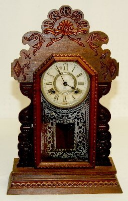 Antique Ansonia Fancy Kitchen Clock