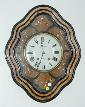 French Inlaid Picture Frame Clock