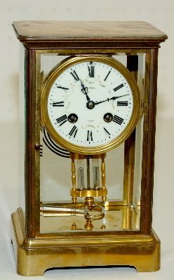 Japy Freres Crystal Regulator Clock