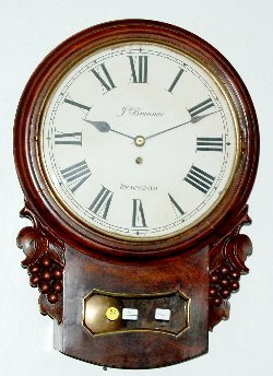 J. Brunner English Fusee School Clock