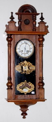German Calendar Wall Hanging Clock