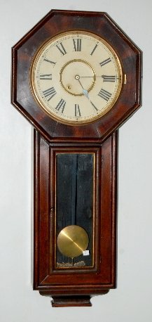 New Haven Extra Long Drop Schoolhouse Clock