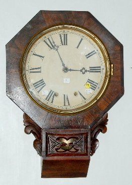 New Haven Fusee Schoolhouse Clock, Rare Model