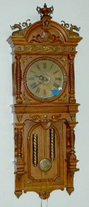 Waterbury Augusta 2 Weight Wall Clock Lot 144
