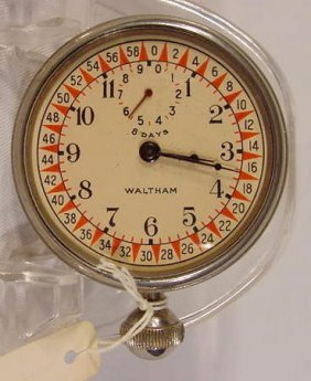 8 Day Waltham Car Clock Model #KS6422 NR