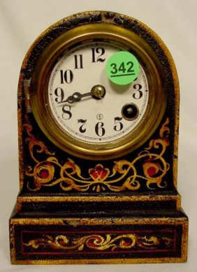 Terry Clock Co. T.O. Iron Case Clock NR