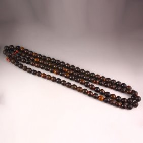 20 Mm Chinese Ox Horn Buddhist Prayers Necklace